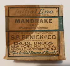 Mandrake Root Loose Pressed, Initial Line Brand, S. B. Pencil & Co. Crude Drugs