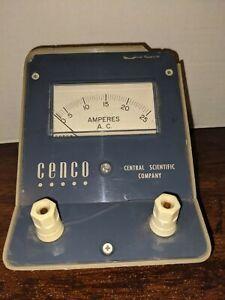 Vtg Amperes A.C.Meter CENCO Central Scientific Company CAT#82426-5 Damaged Case