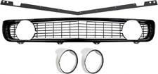 1969 Camaro Standard Black Grill Kit w/ Headlamp Bezels w/ Chrome Ring