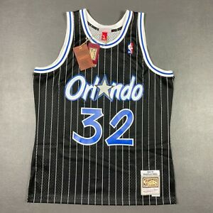 100% Authentic Shaquille O'Neal Mitchell Ness 94 95 Magic Jersey Size L 44 Men
