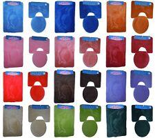Badgarnitur 3-Teilig Badematte Bad Set 85x55cm Hänge WC Delfin mit Ausschnitt