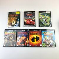 Gamecube Games Lot of 7 Disney Pixar Cars Narnia Incredibles Looney Tunes READ