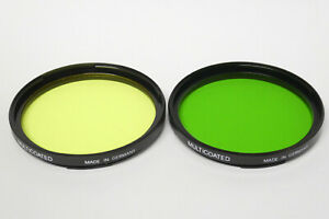Hasselblad Filterset 60mm Bajonett gelb und grün Filter Set
