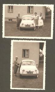 2 kleine Foto - altes Auto - 500 Steyr Puch - aus den 60/70igern