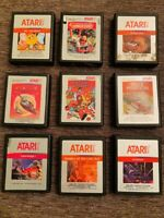 ATARI 2600  9 Silver Label CARTRIDGE LOT #2