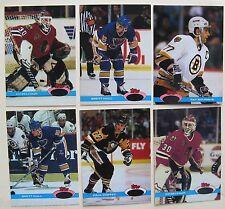 1991 Stadium Club Hockey ERROR Cards (no foil) Ray Bourque, Brett Hull, Belfour