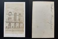 Espagne, Barcelona, teatro principal Vintage albumen print CDV.  Tirage albumi