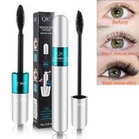 HOT 4D Silk Fiber Eyelash Mascara Extension Makeup Waterproof Kits Eye Lashes