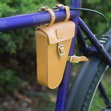 Borsa triangolare telaio realizzato a mano in pelle naturale Tan Bicicletta Telaio Borsa