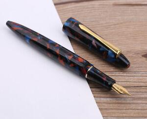 Moonman M100 Acrylic Fountain Pen, SCHMIDT Fine Nib Gift Writing Pen ( Art Red )