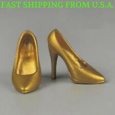 1/6 Scale GOLD High Heel Pumps Shoes For 12'' PHICEN Female Figure ❶USA❶