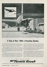 1945 Fairchild Aircraft Ad Army C-82 Packet Cargo Plane Transport for Peacetime