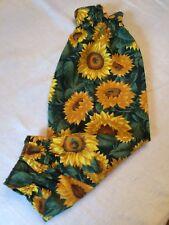 "Plastic Bag Holder/Grocery Bag Holder/Dispenser/Colorful/Cotton ""Sunflowers"""