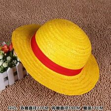 ONE PIECE CAPPELLO DI PAGLIA RUBBER LUFFY COSPLAY RUFY ANIME STRAW HAT CAP