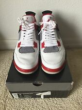 Air Jordan Retro iv 4 White Red Mars Blackmon Spike Lee Brooklyn Size 9.5 2006
