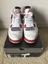 Air Jordan Retro iv 4 White Red Mars Blackmon Spike Lee Brooklyn Size 9.5 2006