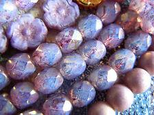 Neue edle Purple Opal Gold Firepolished Schliffperlen -6mm- 25Stk.-Strang