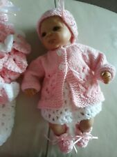 """Reborn Doll Baby Crochet Micro preemie Clothes set for 10-12"""" Doll Emmy OOAK"""