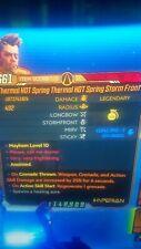 Borderlands 3 - (ps4) Thermal Mirv Storm (Mega insane Damage) (S.J Mods)lvl 65)
