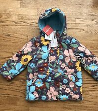 Hanna andersson SZ EU100 3 4 Girls Ski SPRING LIGHT Jacket Flowers NEW QUILTED