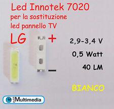 10 Led 7020 per ricambio retroilluminazione TV LG 0,5W 40LM 3V