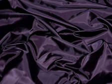"""POLYESTER LINING FABRIC EGGPLANT PURPLE 60"""" BY THE YARD"""