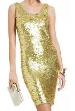"""$298 BCBG DILL COMBO """"NINA"""" SEQUIN SLEEVELESS DRESS NWT S"""