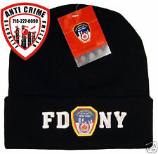 FDNY-NY FIRE/CLOTHING/APPAREL/GEAR/KNIT HAT CAP BLACK