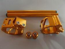 Lenkerschellen Lenker Handle bar Set, Aprilia RSV R (Showa Gabel) gold 53mm