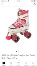 New listing Girls Sfr Miami Asjustable Roller Skates With Light Up Wheels And Carry Bag 12-2