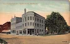 Warren Pennsylvania Avenue Market Street Scene Antique Postcard K49744