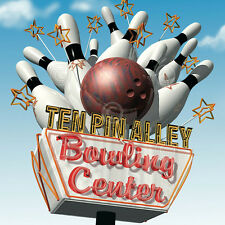 Ten Pin Alley Bowling Center by Anthony Ross Art Print Bowl Ball Poster 22x22