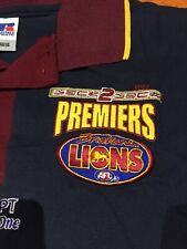 Brisbane Lions 2002 Back To Back Premiership Polo New!
