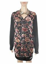 C&A Womens Vtg 90s Formal Tailored Velvet Floral Sheer Shirt Jacket sz 20 AC5