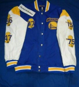Golden State Warriors Carl Banks GIII 5X NBA Champions Jacket Size Large Adult