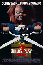 "CHILDS PLAY 2 Silk Fabric Movie Poster New 24""x36"" Horror Chucky"