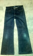 "Seven 7 For All Mankind ""Ginger"" Wide Leg Jeans Dark Wash Women's Size 27 X 30"""