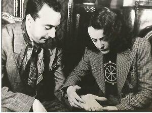 Edith Piaf / Django Reinhart Black and White Photograph (7.5 x 9.5)
