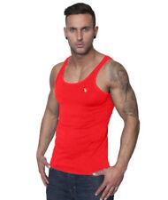 Abbiglimento sportivo da uomo rossi senza maniche s