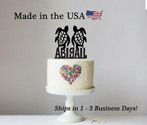 Sea Turtle Cake Topper, Wedding, Birthday, Sea Animal, Keepsake, LT1193