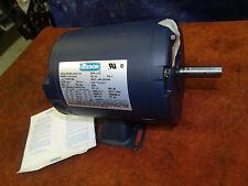 New Leeson C4T17Dh1E 1/4 hp electic motor 1725 rpm 208-230/460v 3 ph 5/8 shaft