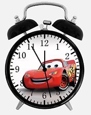 "Disney Cars Mcqueen Alarm Desk Clock 3.75"" Home or Office Decor W63 Nice Gift"