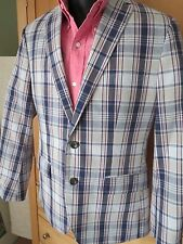 New Banana Republic Mad Men Collection Plaid Sport Coat Jacket Blazer 38 S nwot