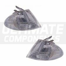 BMW 3 Series E46 Saloon 1998-12/2001 Front Indicators Lights Lamps Clear 1 Pair