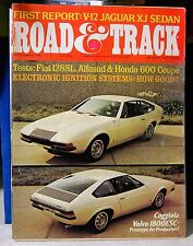 September 1972 Road and Track Magazine FREE SHIPPING