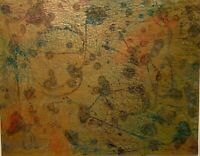 PHILIP HUGHES-LUING ABSTRACT EXPRESSIONIST MODERNIST MIXED MEDIA PAINTING