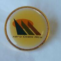 Aero Costa Rica Lapel Hat Jacket Pin Vintage Enamel Airline