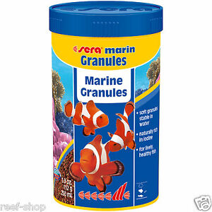 Sera Marin Granules 250mL Saltwater Fish Food Pellets Fast Free USA Shipping