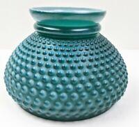 "Vintage 7"" Fitter Dark Green Hobnail Student Glass Oil Kero Lamp Shade"
