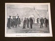 Sciopero nel Porto di Pesajes nel 1920 Scioperanti e guardia civica